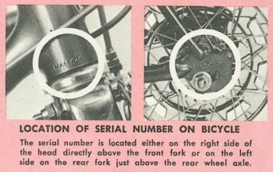schwinn serial number database